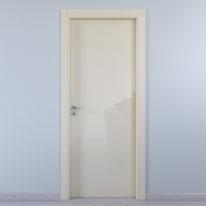 Porta da interno battente Massaua ivory avorio 60 x H 210 cm dx
