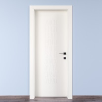 Porta da interno battente Keyboard white bianco 70 x H 210 cm sx