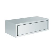 Mensola con cassetto Spaceo bianco, sp 1,8 cm