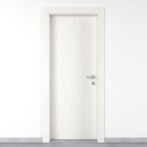 Porta da interno battente Wood bianco 80 x H 210 cm sx