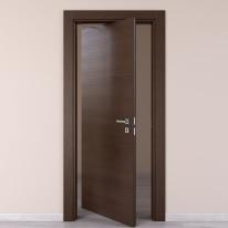 Porta da interno rototraslante Timber Fumo 80 x H 210 cm sx