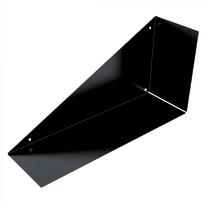 Mensola a L nero L 60 x P 30, sp 18 cm