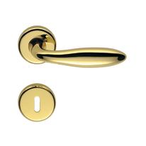 Maniglia per porta con rosetta e bocchetta IRIS in zama