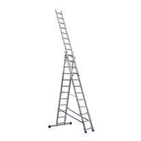 Scala sfilo alluminio Gierre 3x12 gradini, per lavori fino a 8,2 m