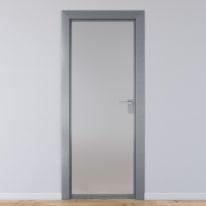 Porta per ufficio battente Office vetro temperato bianco satinato 60 x H 210 cm sx