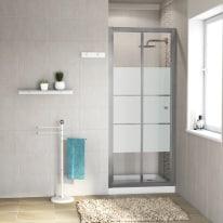 Porta doccia Dado 87-90, H 185 cm cristallo 5 mm serigrafato/silver