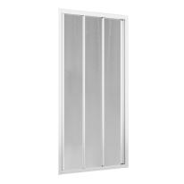 Porta doccia scorrevole Oceania 96-102, H 195 cm vetro temperato 4 mm bianco lucido