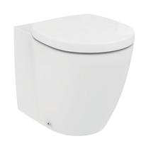 Vaso a pavimento filo muro Ideal Standard Ideal Soft Aquablade scarico traslato con sedile