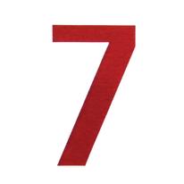 Numero adesivo 7