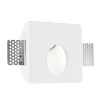 Faretto incasso gesso Ariel-rs1 bianco fisso quadrato 10 x 10 cm
