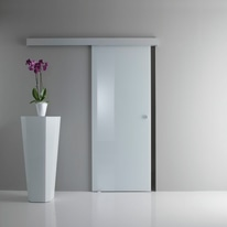 Porta da interno scorrevole Sirio bianco 76 x H 215 cm reversibile