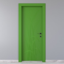 Porta da interno battente Blades green verde 70 x H 210 cm sx