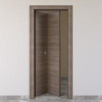 Porta da interno pieghevole Stylish grigio 70 x H 210 cm sx