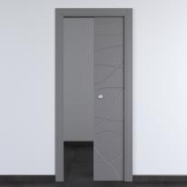 Porta da interno scorrevole Wind Ash cenere 80 x H 210 cm reversibile