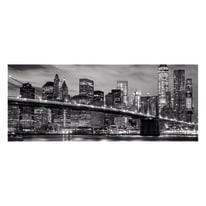 Quadro in vetro New York black&white 125x50