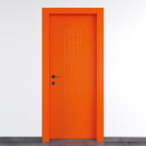 Porta da interno battente Keyboard orange arancio 90 x H 210 cm dx