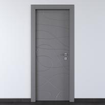 Porta da interno battente Wind Ash cenere 70 x H 210 cm sx