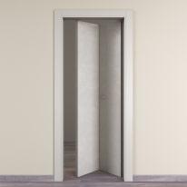 Porta da interno pieghevole Hunk luna 80 x H 210 cm dx