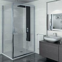 Porta doccia scorrevole Manhattan 116-120, H 200 cm cristallo 6 mm trasparente/cromo