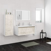 Mobile bagno Venus bianco vintage L 100 cm
