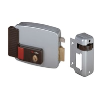 Serratura incontro elettrico 12V elettrica cilindro tondo fisso per porta in ferro, carrai e cancelli