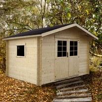 casetta in legno grezzo Tinty 6,59 m², spessore 28 mm