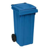 Bidone Carrellato blu satinato 120 L
