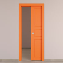 Porta da interno scorrevole New York arancio 60 x H 210 cm reversibile