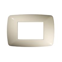 Placca 3 moduli FEB Flexì Brio bianco