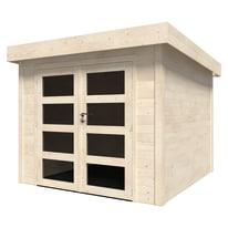 casetta in legno grezzo Viola Plus 5,96 m², spessore 28 mm