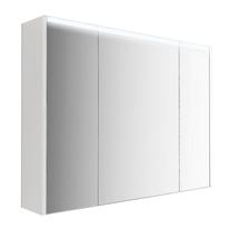 Armadietto a specchio L 91,7 x H 67 x P  15 cm bianco lucido