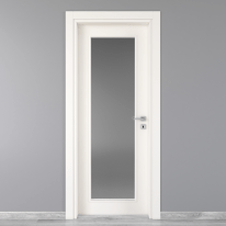Porta da interno battente Moma Vetro bianco 70 x H 210 cm sx