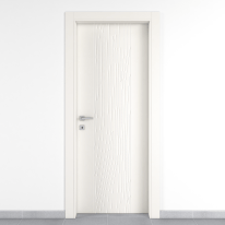 Porta da interno battente Wood bianco 90 x H 210 cm dx