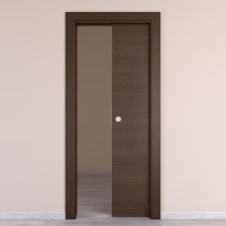 Porta da interno scorrevole Timber Fumo 70 x H 210 cm reversibile