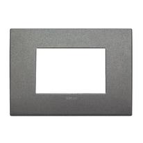 Placca 3 moduli Vimar Arké titanio matt