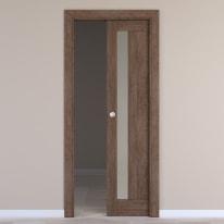 Porta da interno scorrevole Gash tabacco 80 x H 210 cm reversibile