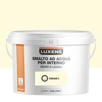 Smalto Luxens all'acqua Bianco Crema 3 brillante 2.5 L
