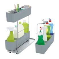 Estraibile 3 cesti portadetersivi Cleaning Agent per modulo da 45 cm