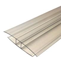 Profilo H Onduline in policarbonato 10 x 210  cm, spessore 16 mm