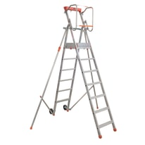 Scala doppia alluminio Facal 7 gradini, per lavori fino a 3,6 m