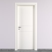 Porta da interno battente Two Lines bianco 70 x H 210 cm dx