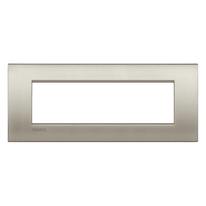 Placca 7 moduli BTicino Livinglight Air blu titanio