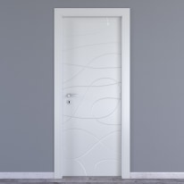Porta da interno battente Wind white bianco 60 x H 210 cm dx