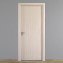 Porta da interno battente Notting Hill con telaio tondo pino sbiancato 70 x H 210 cm reversibile