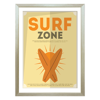 Stampa incorniciata Surf 6 30 x 40 cm
