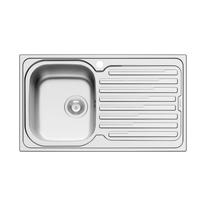 Lavello incasso Amaltia L 86 x P  50 cm 1 vasca SX + gocciolatoio
