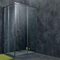 Box doccia scorrevole Purity 67.5-69 x 117,5-119, H 195 cm cristallo 6 mm trasparente/silver