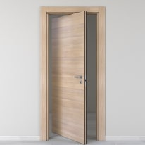 Porta da interno rototraslante Ritz Rosa del deserto 80 x H 210 cm sx