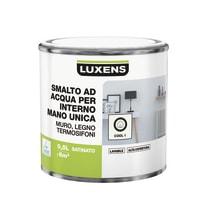 Smalto manounica Luxens all'acqua Bianco Cool 1 satinato 0.5 L