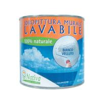 Idropittura lavabile bianca Nativa Bio 0,75 L